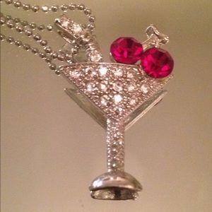 Jewelry - Cosmopolitan Martini Pendant necklace